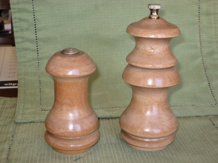 Satinwood Salt and Pepper 2 small