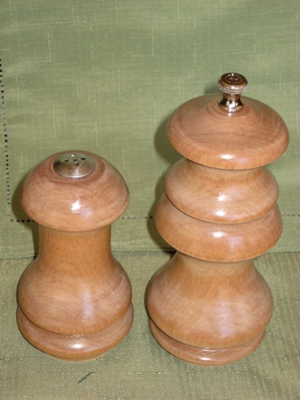 Satinwood Salt and Pepper 3 small