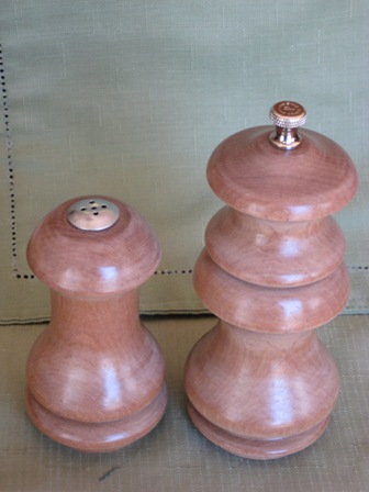 Satinwood Salt and Pepper 4 small